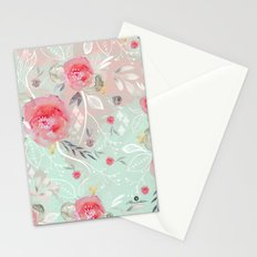 Abstract geometric spring Stationery Cards