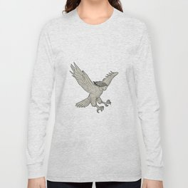 Harpy Swooping Drawing Long Sleeve T-shirt