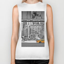 NYC - Yellow Cabs - Fish Market Biker Tank