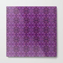 Purple Paisley Garden Metal Print