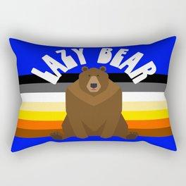 Lazy Bear flag gay bear pride lgbt bears osos gay  Rectangular Pillow