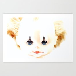 sleeping dolly - clown Art Print