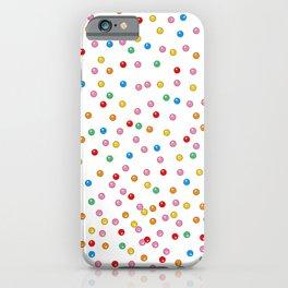Rainbow Gumballs White iPhone Case