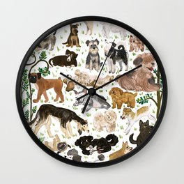 Pup Park Wall Clock