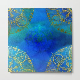 Turquoise and Mysterious Metal Print