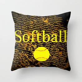 Softball Throw Pillow