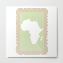 Zoo Biscuit Series - Africa Metal Print