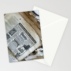 Old Newspaper Left to the Elements...Furnish Your Home in Style Stationery Cards