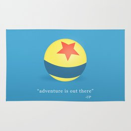 The adventure is out there Rug