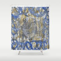 birdy Shower Curtains featuring Birdy by Allena Noel Design
