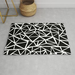 Mozaic Triangle Black Rug