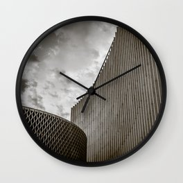 Texturized Brutalism Wall Clock