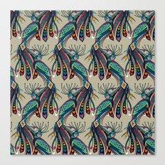 peacock rainbow love Canvas Print
