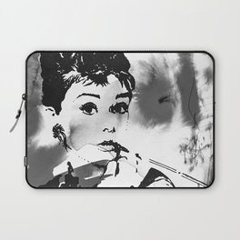 Audrey in B&W Laptop Sleeve