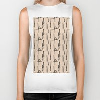 tool Biker Tanks featuring Tool Pattern by Jessica Roux