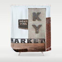 Vintage Neon Sign - KY Market - Tucson Arizona Shower Curtain