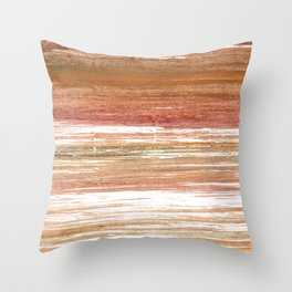 Coconut abstract watercolor Throw Pillow