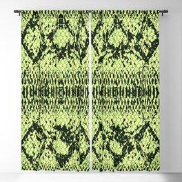 Green Snake Decorative Pattern Blackout Curtain