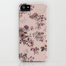 Japanese Boho Floral- Rose Blush iPhone Case