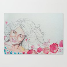 mama watercolor acuarela Canvas Print