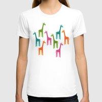 giraffes T-shirts featuring Giraffes by ts55