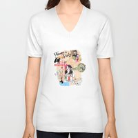 florence V-neck T-shirts featuring Florence, Italy by Olive Primo Design + Illustration