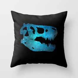 T-Rex Skull Throw Pillow