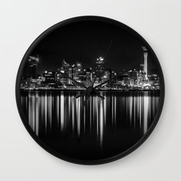 Black and White New Zealand Wall Clock