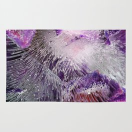 Frozen purple Rug