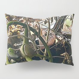 Tree growing in truck cab Pillow Sham