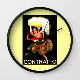 Prosecco Contratto Leonetto Capiello Wall Clock