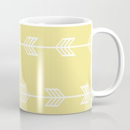 Running Arrows in White and Yellow Coffee Mug