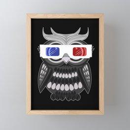 Owl - 3D Glasses Framed Mini Art Print
