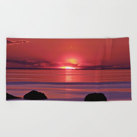 Sunset Ripples Beach Towel
