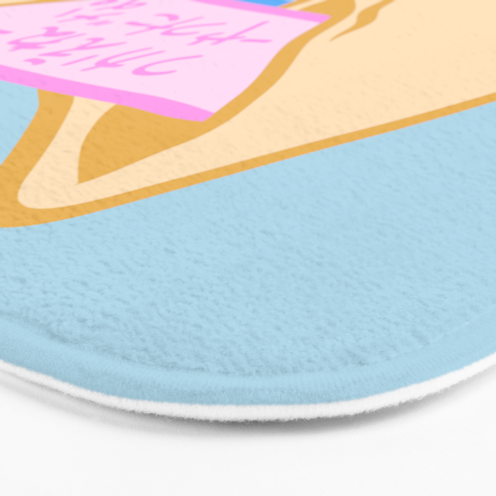 """You're Worthless"" Bath Mat"