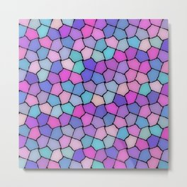 Multicolor Pattern Metal Print