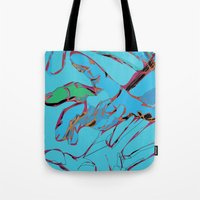 hands Tote Bags featuring Hands by Neave Lifschits