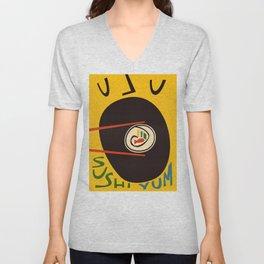 Yum Sushi Unisex V-Neck