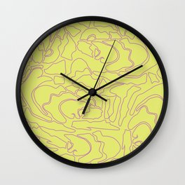 Pastel Pattern III Wall Clock