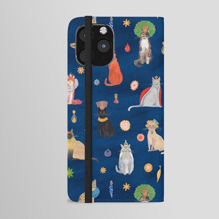 Cat Queens (Blue) iPhone Wallet Case