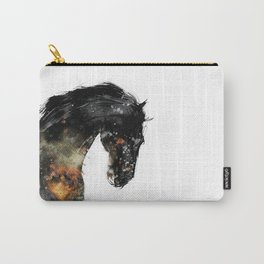 Horse portrait (Distant Galaxy) Carry-All Pouch