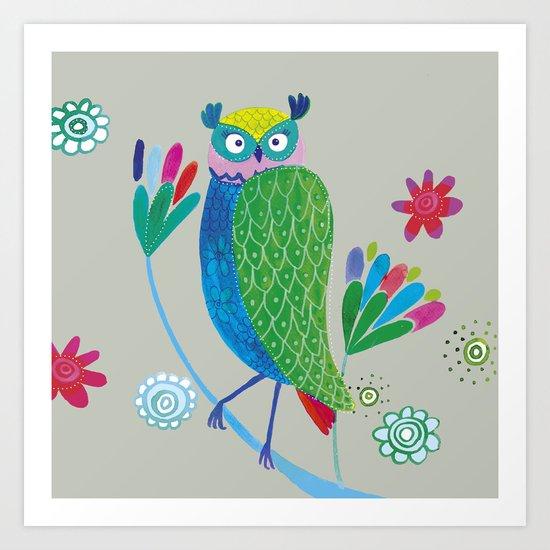 owl2 Art Print