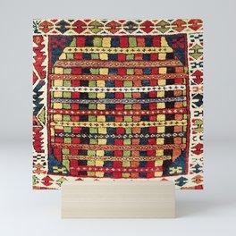 Rare Konya  Antique Turkish Tribal Yastik Print Mini Art Print