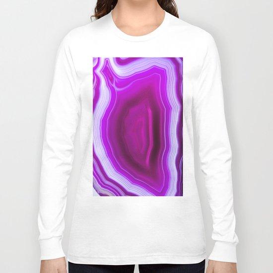 Pink agate Geode Long Sleeve T-shirt