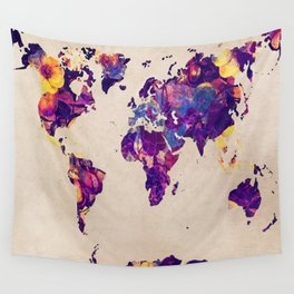 world map 20 Wall Tapestry