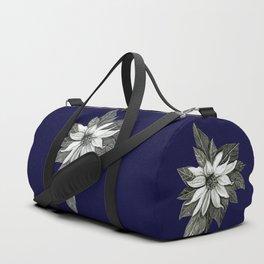 Florida Flower Navy Blue Background Duffle Bag
