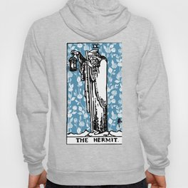 The Hermit - A Floral Tarot Print Hoody