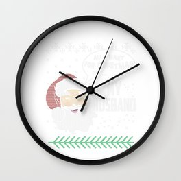 Husband And Wife Christmas Shirts Love My Husband Wall Clock