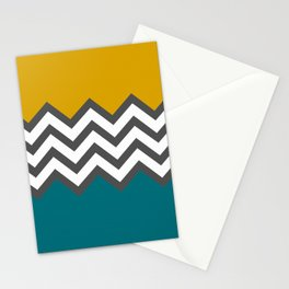 Color Blocked Chevron Stationery Cards