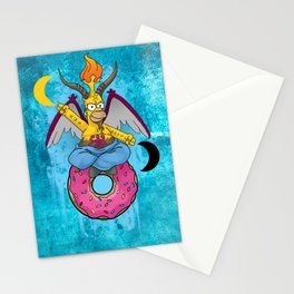 Homer The Baphomet Stationery Cards